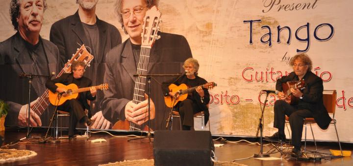 Argentina's guitar trio performing in Islamabad.