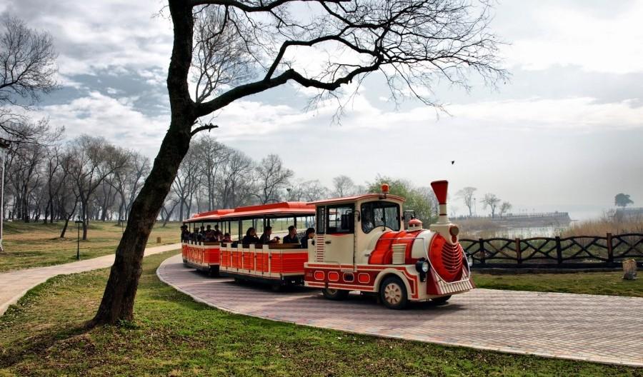 Train ride at Lake view Park in Islamabad