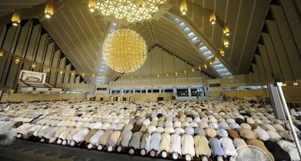 Faisal Mosque Islamabad Scene