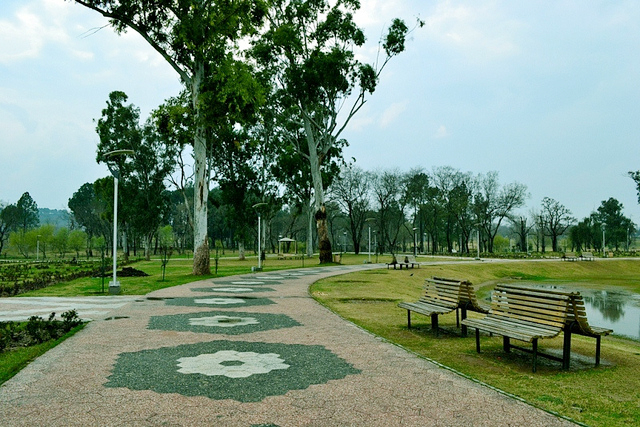 A view of Rose and Jasmine garden in Islamabad