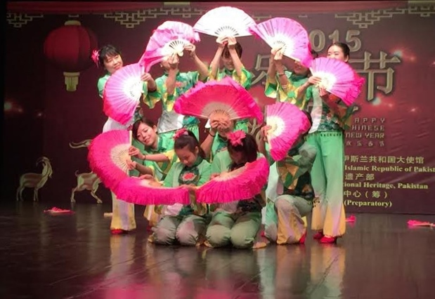 A beautiful performance by artists at Chinese Culture Festival in Islamabad.