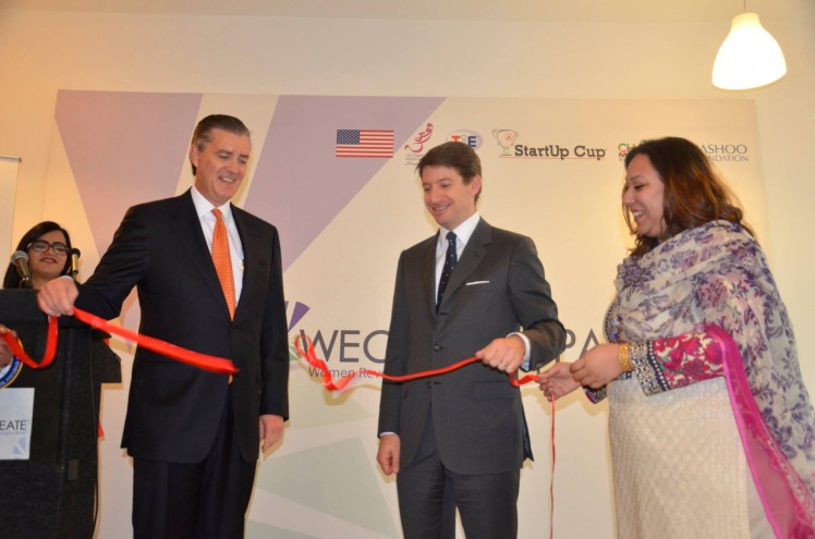 US Ambassador Richard Olson inaugurating the Women's Entrepreneurial Center in Islamabad. Photo: US Embassy Pakistan