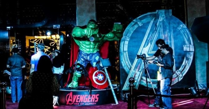 The premiere of Avengers 2 held at Arena Bahria Town Rawalpindi was a big scuccess.