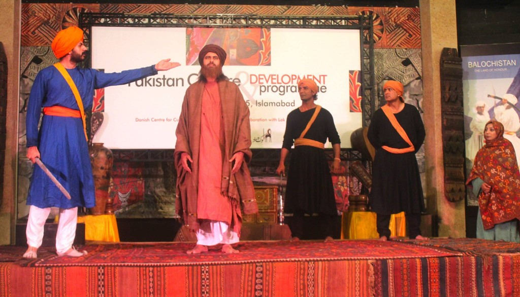 Pakistani artists performing at the launch of Cultural program between Pakistan and Denmark.