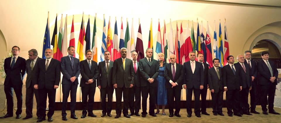 Envoys representing their countries at Europe Day ceremony in Islamabad held on Friday, 29 May, 2015