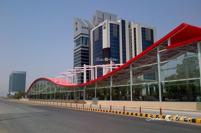 Metro Bus station in Islamabad