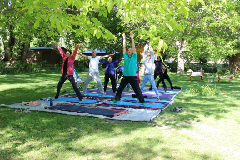 Yoga retreat led by Aisha Chapra, a renowned Pakistani teacher, in Chitral.