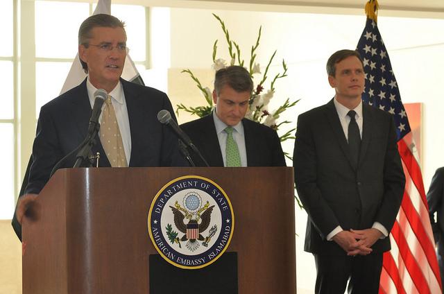 Ambassador Richard Olson inaugurates new U.S. Embassy building in Islamabad, Pakistan