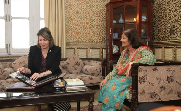 FJWU Vice Chancellor Dr. Samina Qadir and U.S. Embassy Islamabad Counselor for Public Affairs Christina Tomlinson inaugurated Susan B. Anthony Reading Room in Rawalpindi