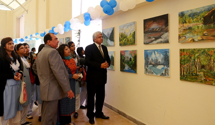 Art exhibition as part of the 5th Pakistan Mountain Festival in Islamabad