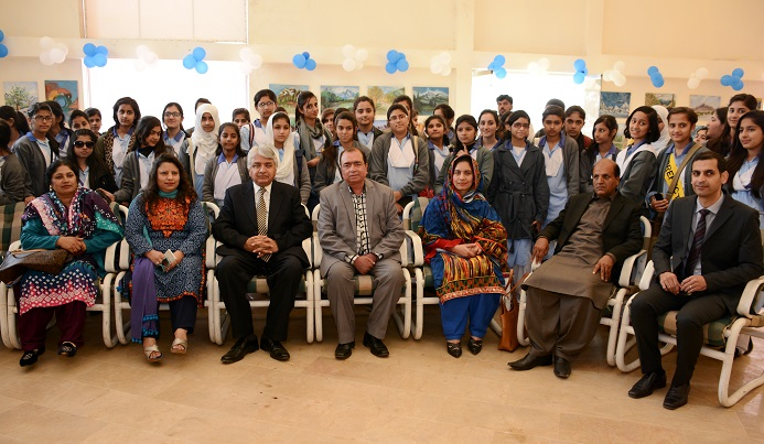 Group photo of artists and organizers at 5th Pakistan Mountain Festival