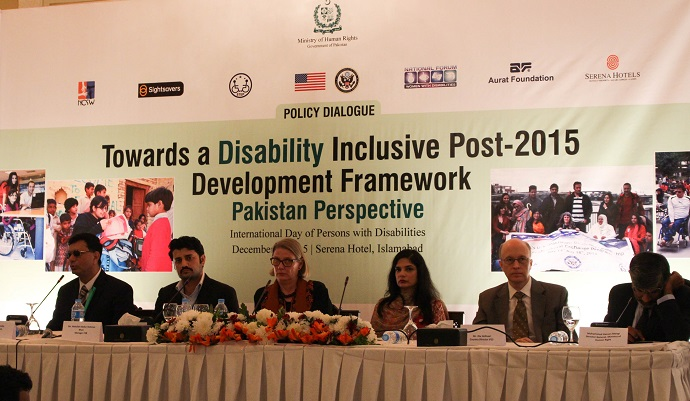 Policy dialogue on 2015 International Day of Persons with Disabilities held in Islamabad. Photo by Sana Jamal