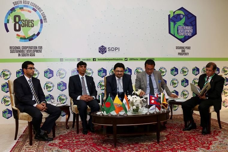 Speakers at at 8th Eight South Asia Economic Summit held in Islamabad