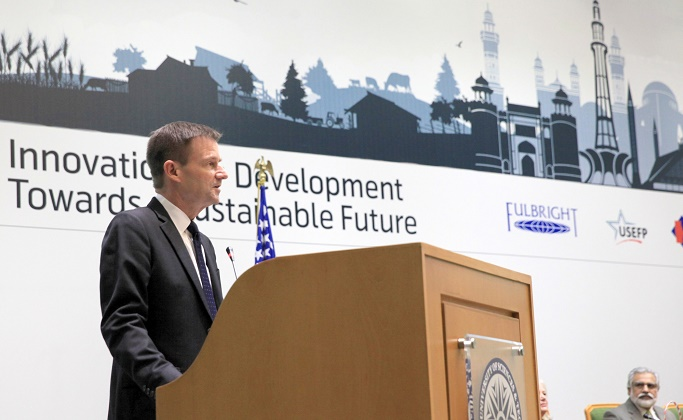 US Ambassador to Pakistan David Hale welcomed alumni at 12th Annual Fulbright and Humphrey Alumni Conference in Islamabad