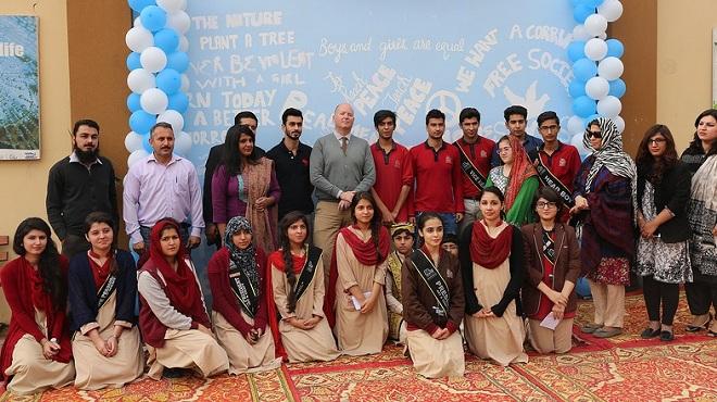 Students of Peshawar, Roots Millenium School. Photo: UNICEF