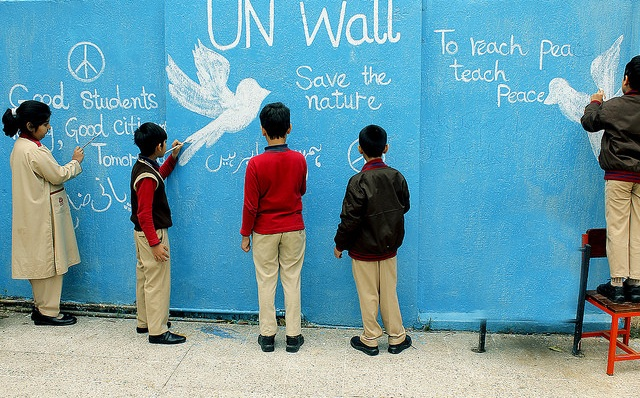 Students of Islamabad Roots Millenium School. Photo: UNICEF