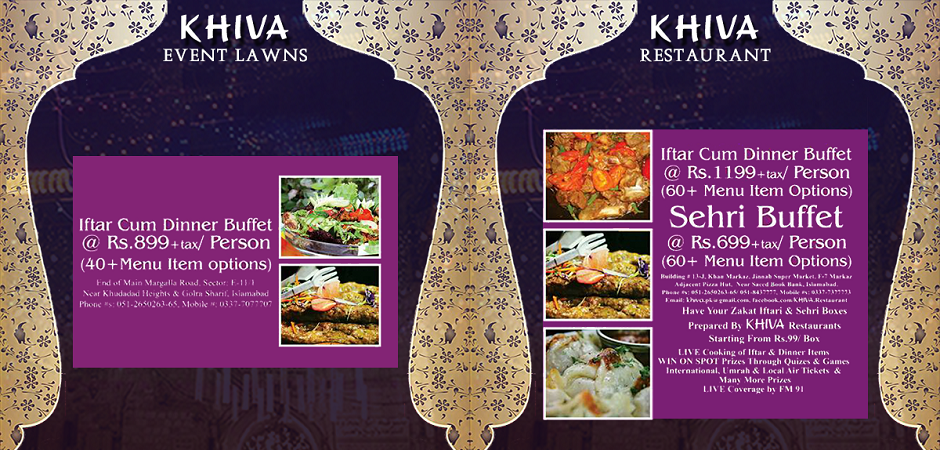 khiva restaurant Ramadan 2016 deals