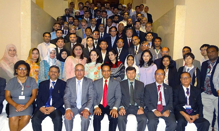 PTA Chairman Dr. Syed Ismail Shah with participants of International Training Programme jointly organized by International Telecommunication Union (ITU) and Pakistan Telecommunication Authority (PTA)