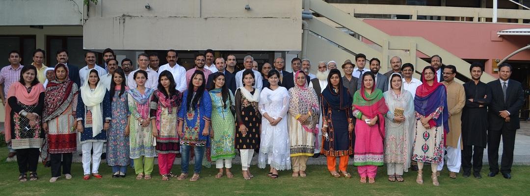 A group photo of the Alumni with Dr. Javed Ashraf, Vice Chancellor Quaid-i-Azam University organised by QAU Alumni Association at Islamabad Club.