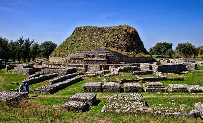 Dharmarajika Stupa in Taxila is the earliest Buddhist monument in Pakistan
