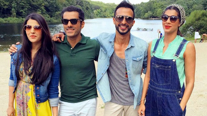 Hareem Farooq, Adeel Husain, Ali Kazmi and Sanam Saeed - the cast of Dobara Phir Se.