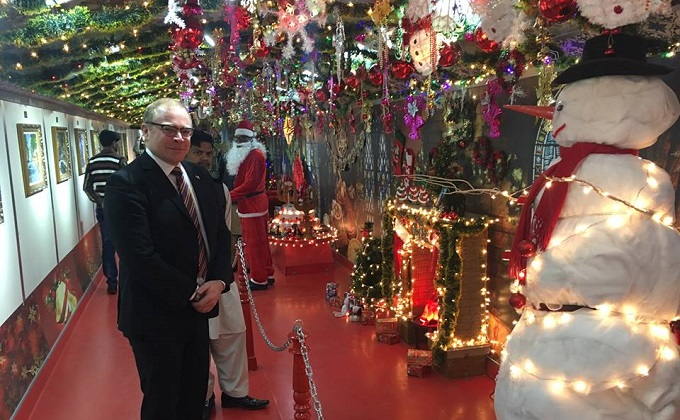Pakistan's special Christmas Peace Train begins its journey from Islamabad