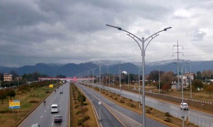 Islamabad on a rainy day
