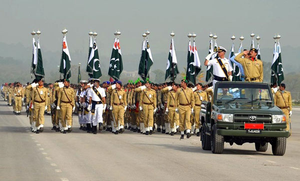 Full dress rehearsal of Pakistan Day parade held in Islamabad
