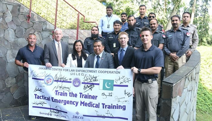 US supports medical emergency training for Pakistani police officers