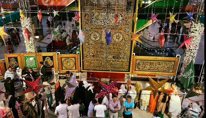Exhibition of 'Ghilaf-e-Kaaba' continue in Islamabad Centaurus Mall