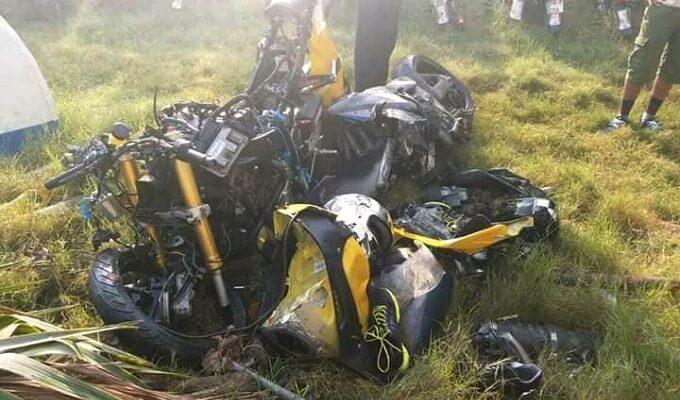heavy bike accident