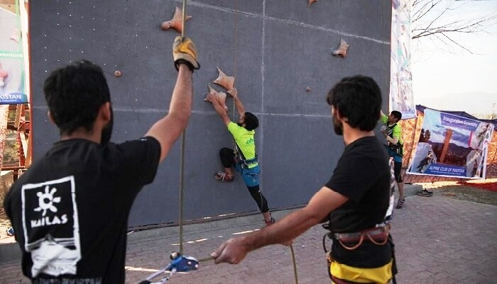 Speed Climbing Wall launched in Islamabad