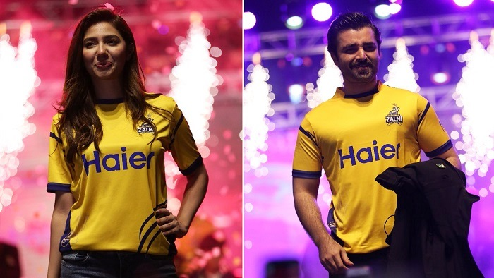 Mahira Khan and Hamza Ali Abbasi are Peshawar Zalmi ambassadors