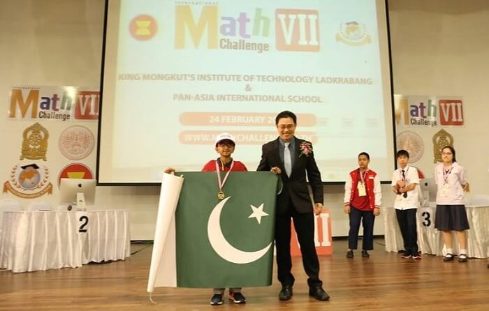 Pakistani kid wins gold in global mathematics challenge