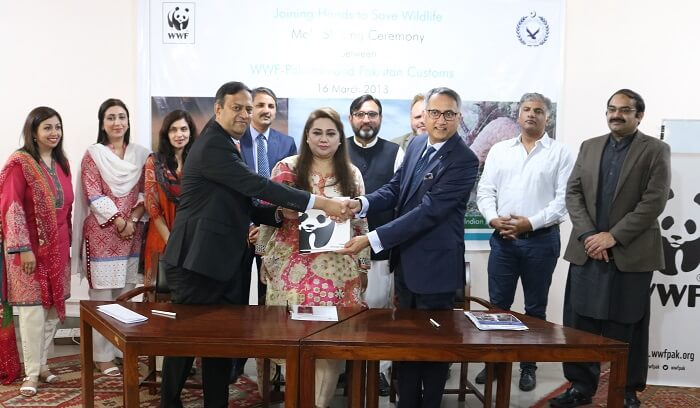 WWF-Pakistan and Pakistan Customs tocombat illegal wildlife trade together
